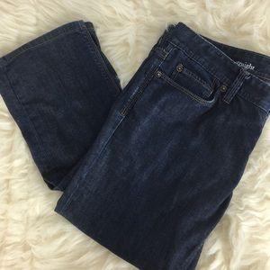 Ann Taylor LOFT Modern Straight Dark Wash Jeans